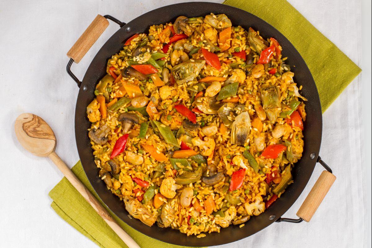 Ricetta Paella Vegetariana La Ricetta Di Giallozafferano