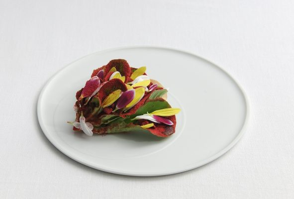 Ceasar salad in bloom - Fonte: Ufficio stampa Osteria Francescana