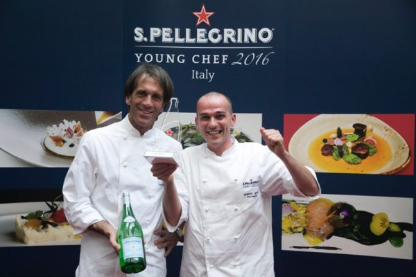 Lo chef stellato Davide Oldani e Alessandro Salvatore Rapisarda © Pitsfoto.com
