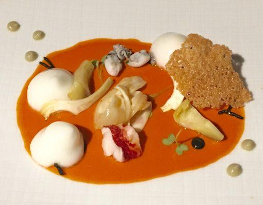 Il piatto di Paolo Casagrande, 2 stelle Michelin del ristorante Lasarte di Bercellona © Giallo Zafferano