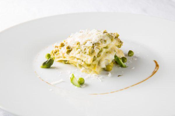 Le lasagne asparagi e piselli © Damini & Affini