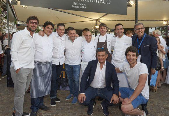 La squadra di chef e organizzatori capitanata da Heinz Beck © Ag. Santi & Santi