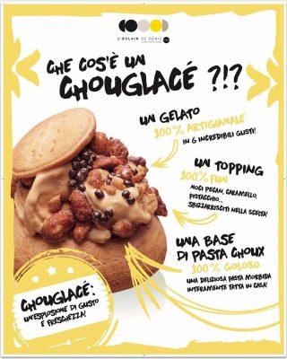 Chouglacé è un bignè di pasta choux (la stessa dell'éclaire) ripieno di gelato artigianale © sito ufficiale Ėclair de Génie