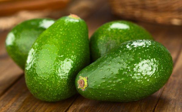 La varietà di avocado Fuerte ha la buccia verde e sottile © Fotolia