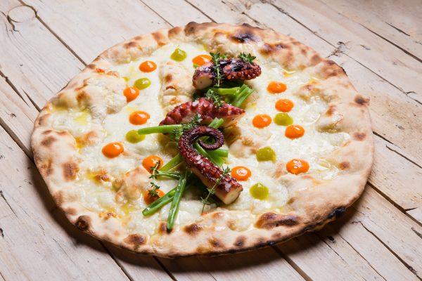 La pizza creata da Lovatel con Italo Bassi © Aromi Creativi