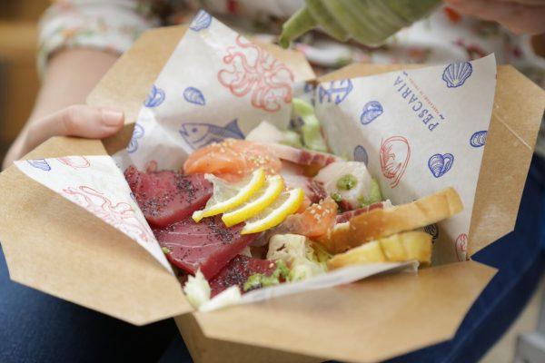 Il tris di sashimi © Pescaria