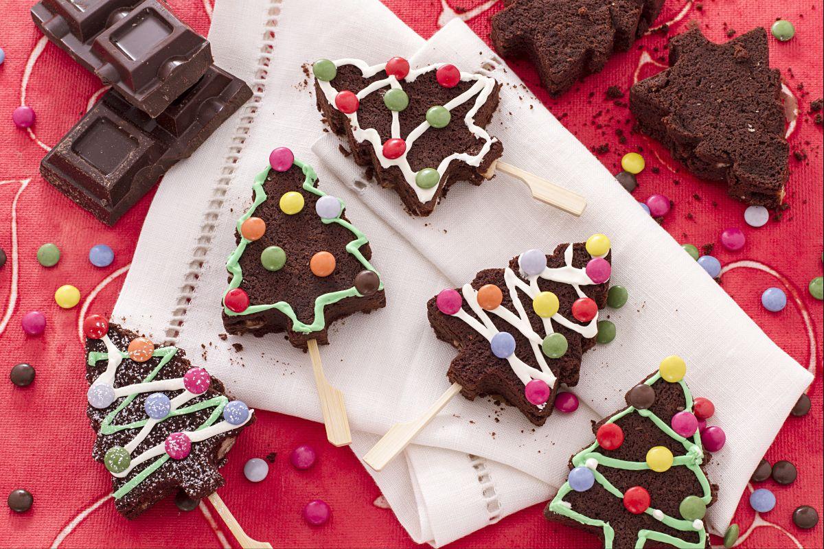 Dolce Di Natale Giallo Zafferano.Ricetta Alberi Di Natale Brownies La Ricetta Di Giallozafferano